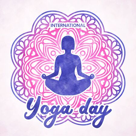International Yoga day poster Çizim