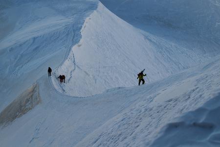 Hiking Skiing at the Alps Chamonix Mont Blanc