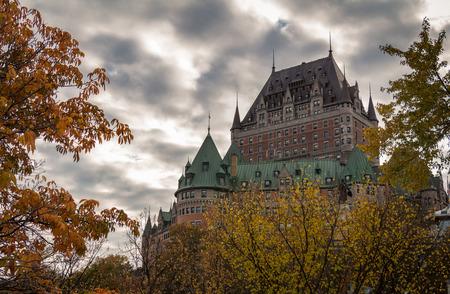 Fairmont Le Ch?teau Frontenac in Autumn Quebec City Canada Stockfoto