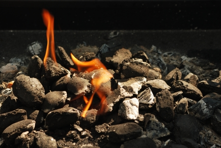 coals: Fire Stock Photo