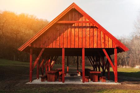 Wood pavilion photo