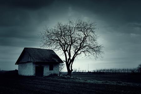 caba�a: Casa embrujada Foto de archivo
