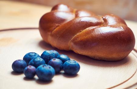 plato del buen comer: Blueberry y pan