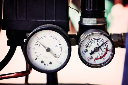 air pressure: Pressure meter Stock Photo