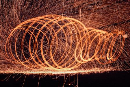 pyromania: Steel wool lighting