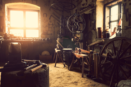 Old workshop Stock Photo - 35421818
