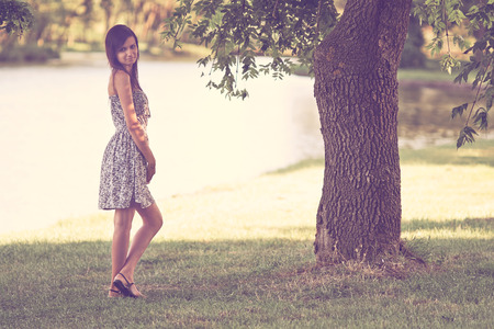 the enchantress: Girl in the park