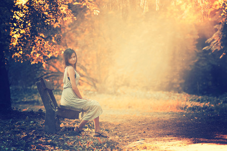 Sitting girl photo