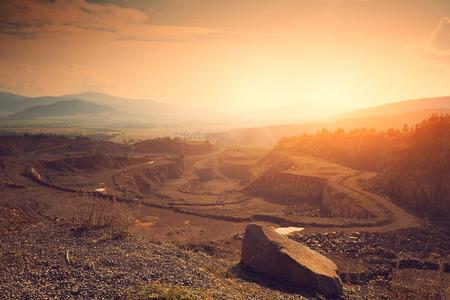 石鉱山 写真素材