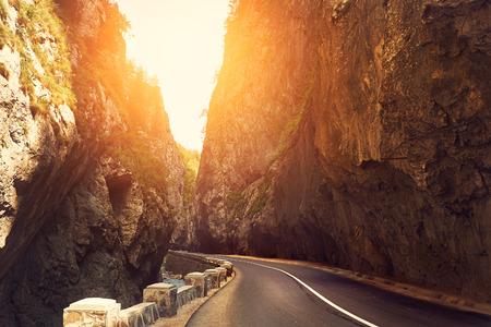 high mountain: Mountain road