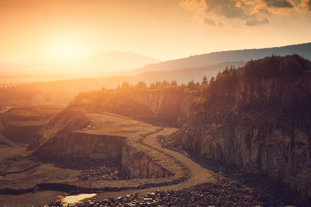 gold mining: Stone mine