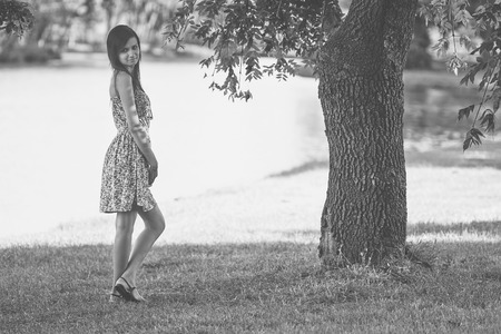 hot weather: Girl in the park