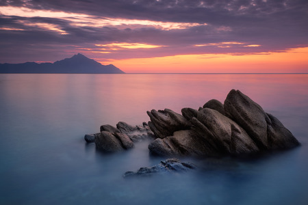 Beautiful sunrise in lake photo