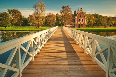 vibrant cottage: Autumn park Stock Photo