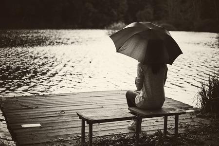Girl umbrella photo