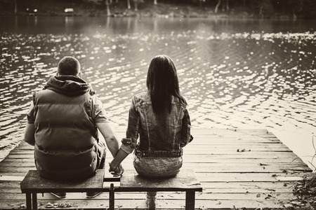 Couple in a pier photo