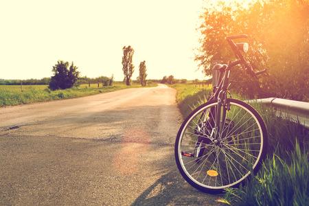 ciclismo: Ciclo en el camino Foto de archivo