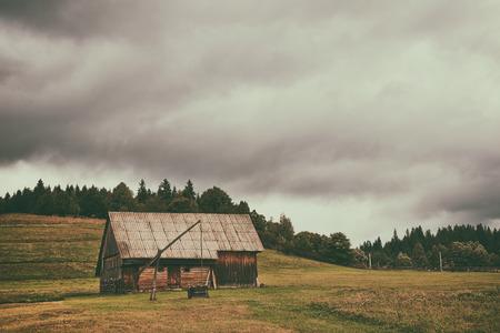 old farm: Old farm in transylvania Stock Photo