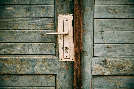 locked: Old locked door