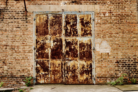 old buildings: Abandoned old entrance