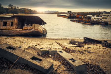 boat accident: Abandoned Shipwreck