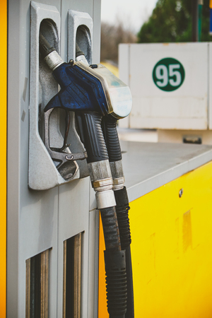 petrol pump: Petrol pump in petrol station