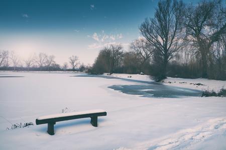 frozen lake: Winter frozen lake
