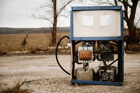 fuelling pump: Abandoned petrol station