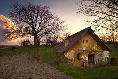 Verlaten oud huis Stockfoto