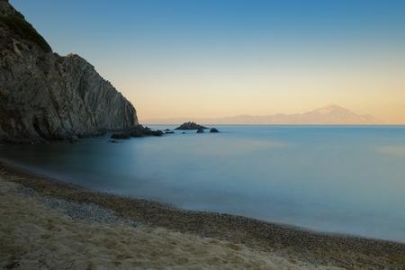 long: Long exposure sunset seascape Stock Photo