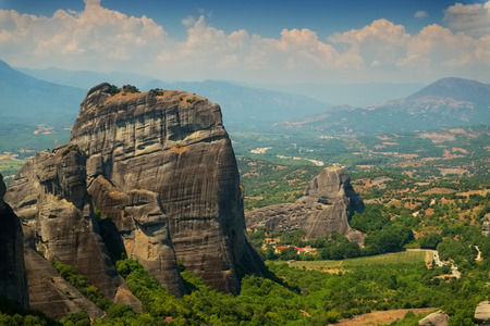 Meteora valley, Greece Stock Photo