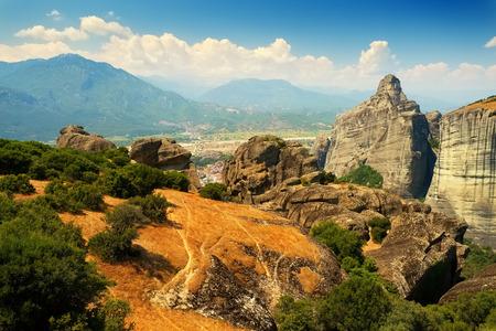 thessalia: Meteora valley, Greece Stock Photo