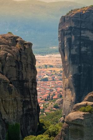 kalabaka: Meteora valley, Greece Stock Photo