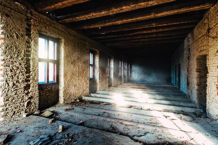 abandoned room: Abandoned building room