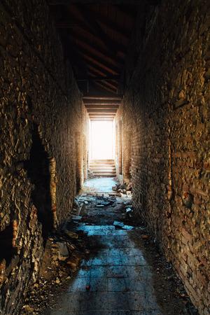 Abandoned building floor