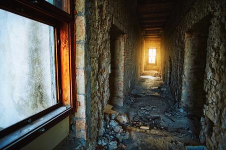 Abandoned building indoor
