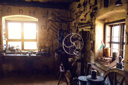 smithy: Traditional smithy workshop interior