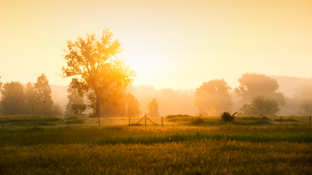 Sunrise in the countryside Stock Photo