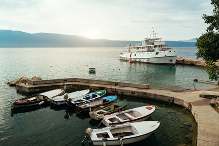 Boats on the dock, Croatia 版權商用圖片