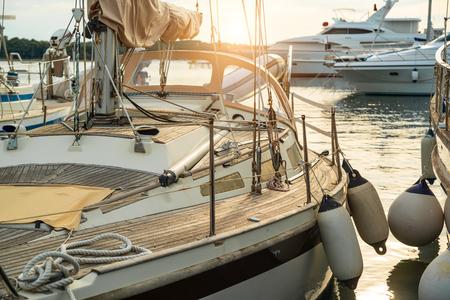 Yacht on dock