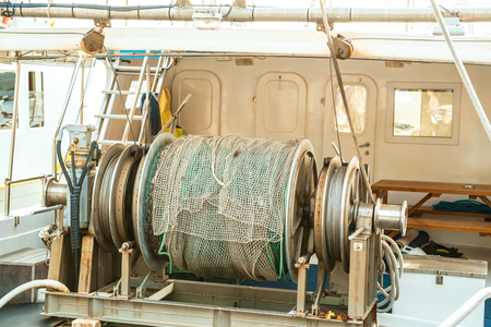 Winch on a fishing boat