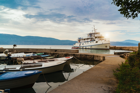 Boats on the dock, Croatia Imagens