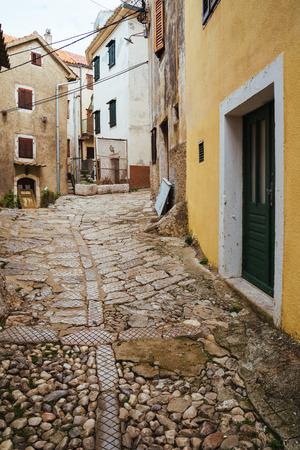 Vrbnik historical town in Krk Island Croatia 版權商用圖片