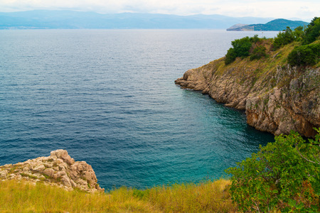 Landscape of Adriatic sea in Croatia
