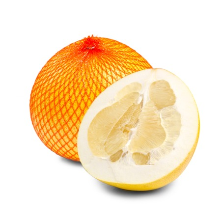 Photo of pomelo fruit isolated on white photo