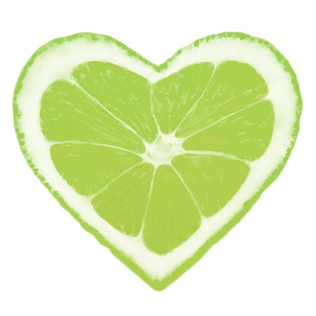 Photo of lime slice in a heart shape