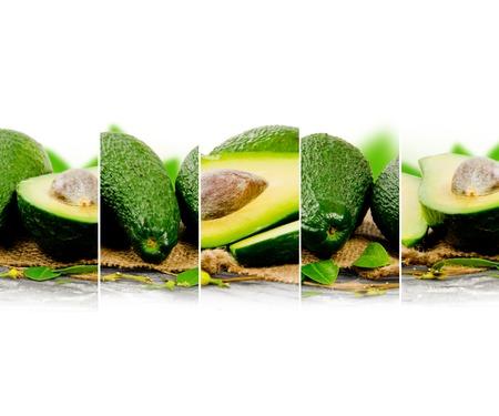 raum weiss: Foto von abstrakten Avocado-Mix mit wei�en Raum f�r Text