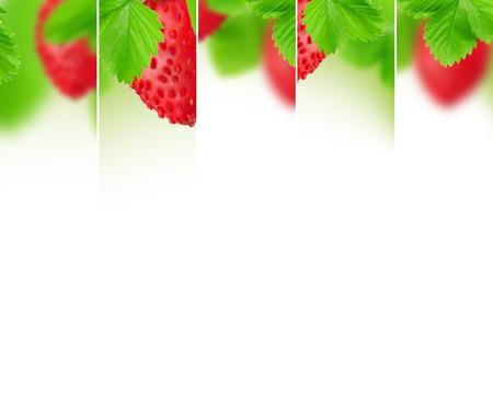 raum weiss: Foto von abstrakten Erdbeer Mix mit wei�en Raum f�r Text