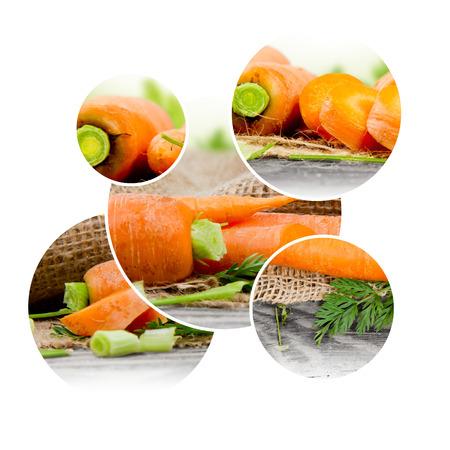 raum weiss: Foto Karotten Mischung mit Bl�ttern und wei�en Raum