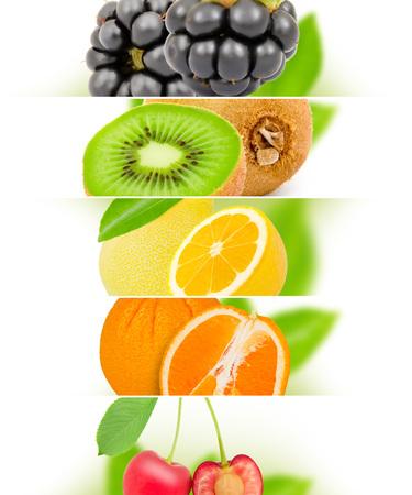 raum weiss: Foto von Obst-Mix mit wei�en Raum Lizenzfreie Bilder